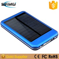 Solar power bank 8000mah Polysilicon 1.5W aluminum metal power bank By Factory Directly Supply
