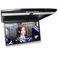 Multi-Functional Android 17inch flip down car lcd roof mount monitor with AV HDMI input/SD/USB /remote control