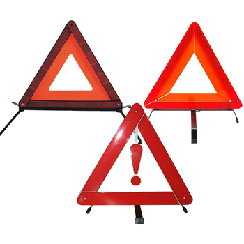 Hot sale E-mark car  triangle reflector reflective warning triangle for road safety