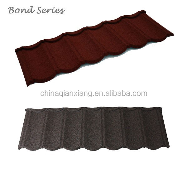 interior decoration stone coated steel roofing tile