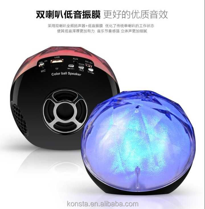Color Led Light Bluetooth Wireless Speaker Magic ball speaker Multi Color For Phone,Tablet PC Wireless Audio
