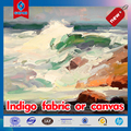Indigo fabric or canvas for printing