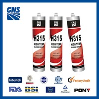 Nonflammable silicone thermal waterproof high temperature sealant