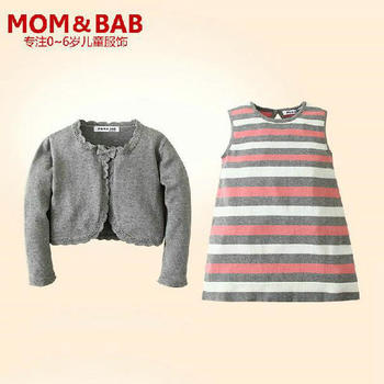 2014 new arrival mom and bab two-piece dress, kids formal wear, high quality favorable price baby clothes