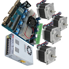 4Axis Nema 23 Stepper Motor 287oz-in & Driver Board TB6560 3.5A+ Power Supply 350W+ CNC KIT/ROUTER