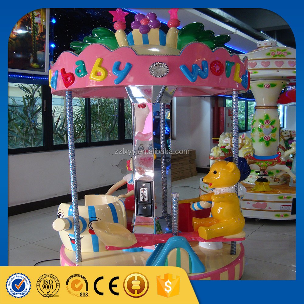 Children indoor rides games machine christmas carousel ride with trailer mounted for sale