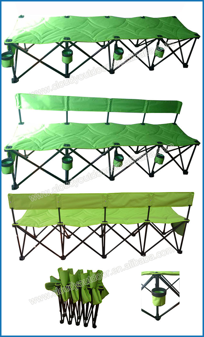 double seat camping chair 2 seats camping portable folding bench ...