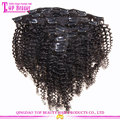 African American Afro Kinky Curly Clip In Human Hair Extensions Virgin Brazilian Afro Kinky Curly Clip In Hair Extension