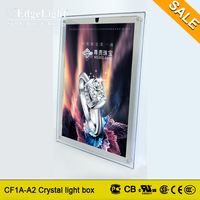 Edgelight cutting board with scale crystal transparent led lighted box with CE certificate