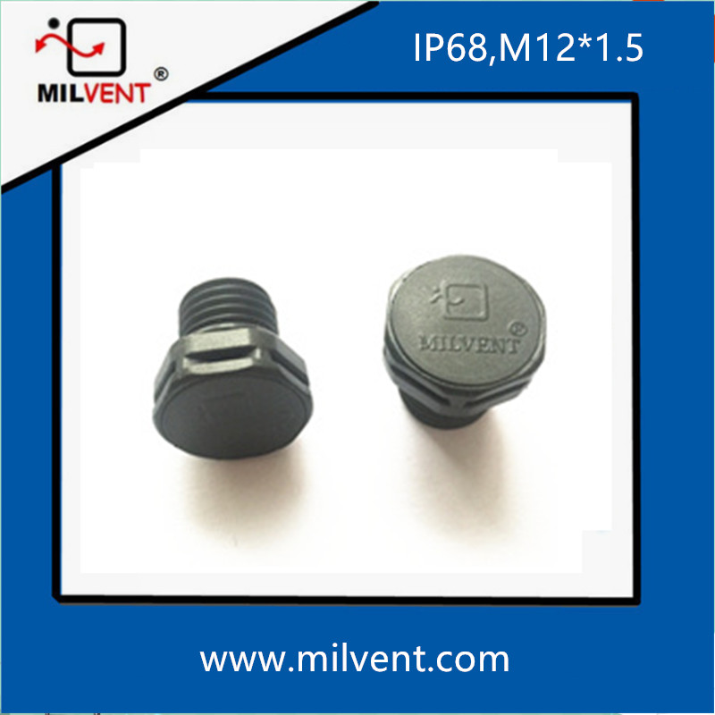 Protective vents screw in vents M12*1.5-10mm milvent air vent plug air breathers waterproof vavle