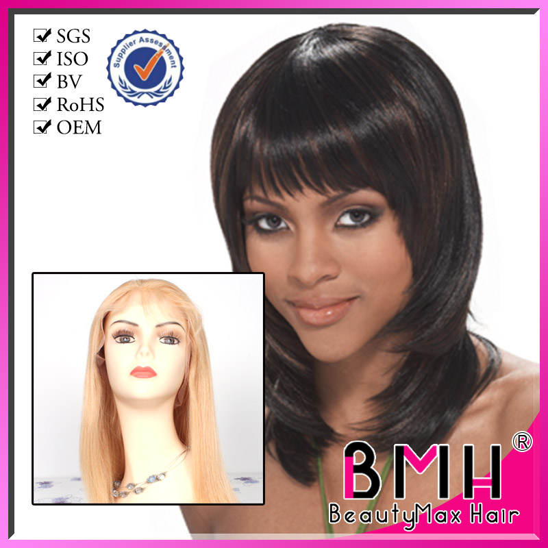 Wholesale 100% Remy Brazilian/Swiss/French Hair Full Lace Wig