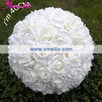Wholesale 40cm Rose Artificial Silk Flower Ball