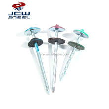 Color Ring Shank Roofing Nails With Rubber Washer