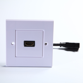 HDMI Wall Plate with 6-Inch Pigtail Built-In Flexible Hi-Speed HDMI Cable with Ethernet