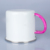 New Sublimation Blank Enamel Mug with Stainless Steel Rim and hand painted handle