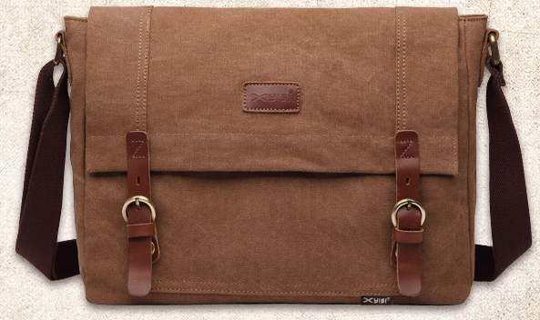 men's classic casual leather canvas messenger bag should bag