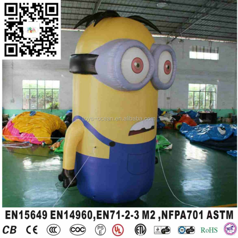 Inflatable carton model fur mascots minion mascot costume for Patty