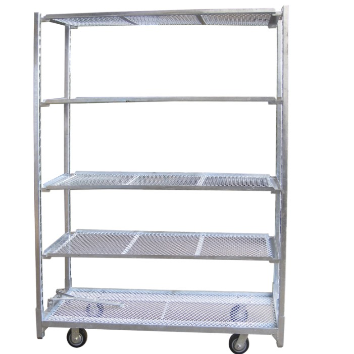 Greenhouse Display Galvanized CC Movable Flower Cart