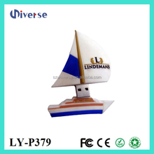 China products gift 1gb to 64gb cheap usb flash drive sailing ship usb stick memory sail boat pen drive customized