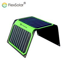 FlexSolar 16W Portable Solar Charger Foldable Solar Charger for Cellphone