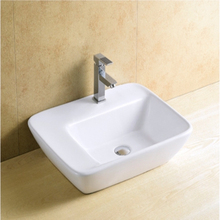 Counter-Mounted White Ceramic Hair Wash Sink