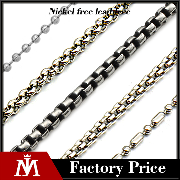 Mens Stainless Steel Beaded Chain Necklace Design