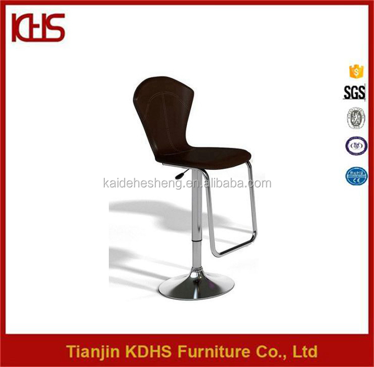 Polished stainless steel frame material adjustable bar stool