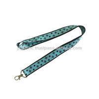 costom heat-tranfer polyester lanyard ID badge holder for business