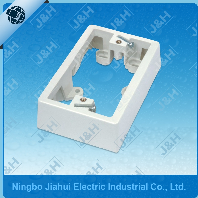 Ningbo Australian standard wall switch mounting block 34mm, Jiahui AS/NZS plastic enclosure electrical mounting block PC ABS