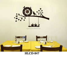 Hot New Design cartoon pictures of clocks DIY wall sticker clock