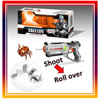 Laser Shooting 1pcs infrared gun & 1pcs bug Shooting Gun Toys Gun