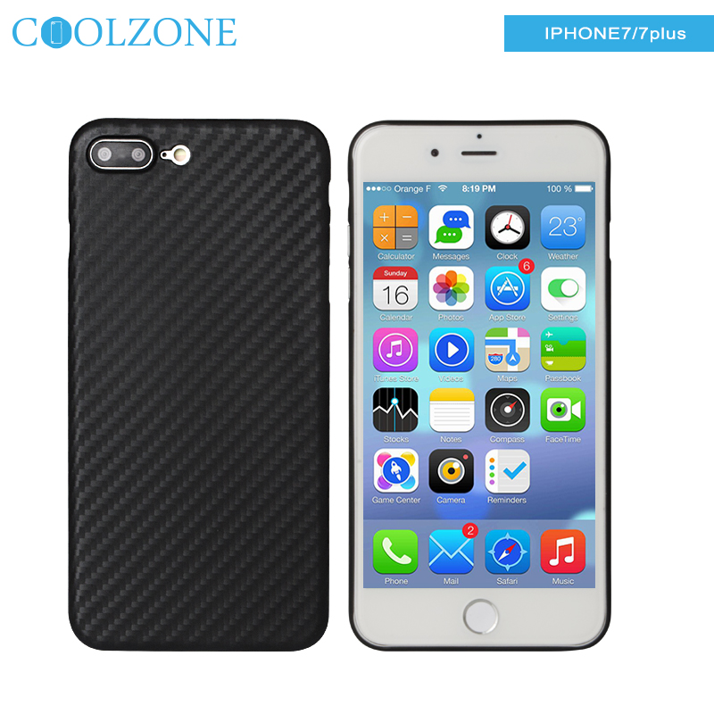 For IPhone 7 Plus Phone Case, 0.5mm Ultra Thin Anti-gravity Carbon Fiber Pattern PP Cell Phone Cover Shockproof