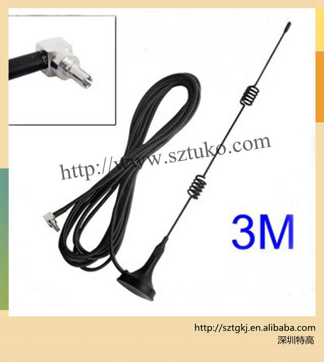 GPRS Antenna 3G 3DB TS9 With TS9 connector Magnetic Base for Ham Radio