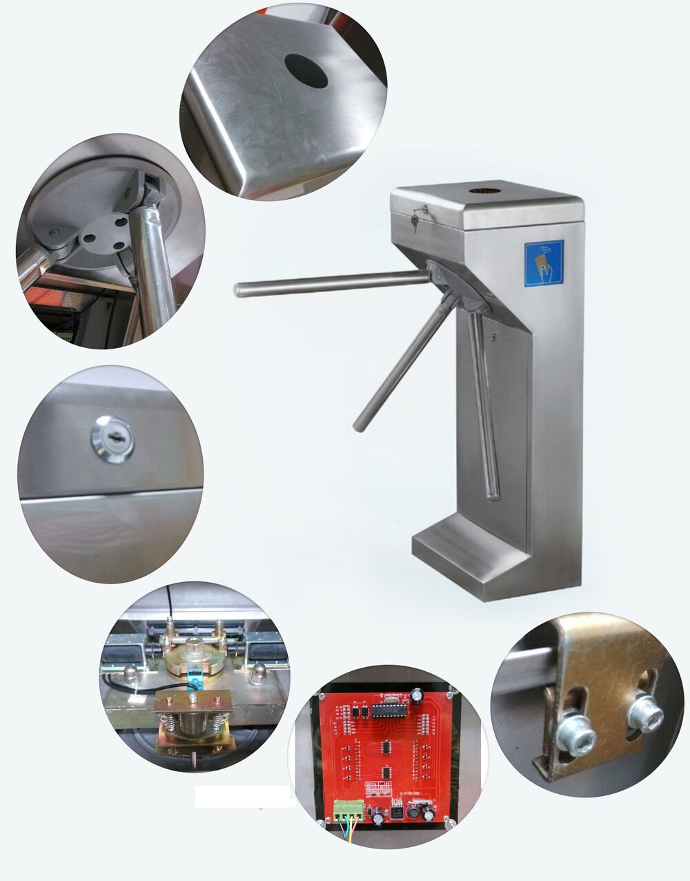 passenger channel automatic waterproof RFID access control tripod turnstiles gate