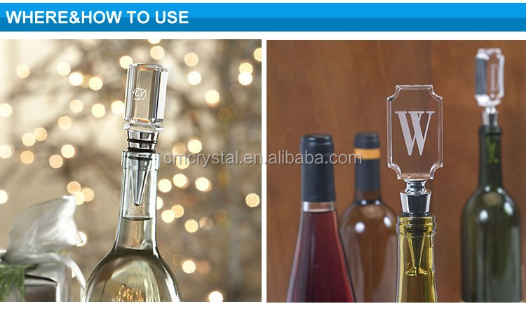High Quality Decorative Crystal Wine Stopper wholesale with different shape