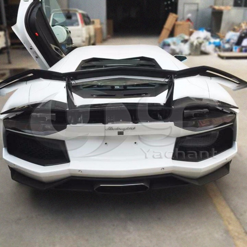 Trade Assurance Carbon Fiber Wing Fit For 2011-2014 Aventador LP700-4 BSE Style Rear Trunk Spoiler Wing