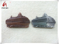 fashionable ship shape metal fridge magnet