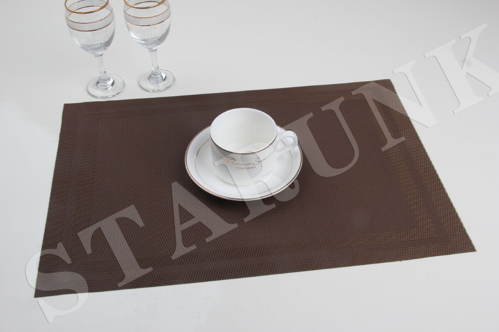 New fashion pvc polyester glass table rubber pad placemat