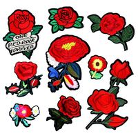 Flowers Sequin Embroidery Patch Outlines Hot