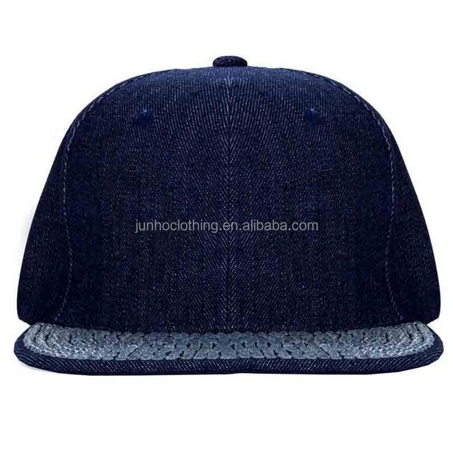 Custom 6 panel flat hip hop women denim hats cap men sport cowboy plain snapback cap hat
