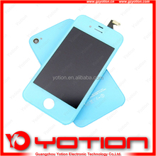 Blue color Coversion kit -lcd Digitizer &Back Glass OEM For iPhone 4