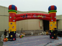 Rainbow Advertising Entrance Cheap Inflatable Arch For Sale
