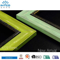 INTCO Hot selling distressed wood picture frame and photo frame moulding