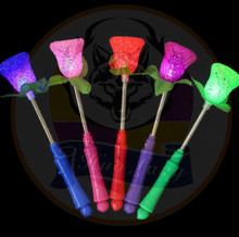 25CM Star Flower Rose Heart LED Glowing Stick 2018 New Year Flashing Light Stick Festival Concert Wedding Birthday Party Favors