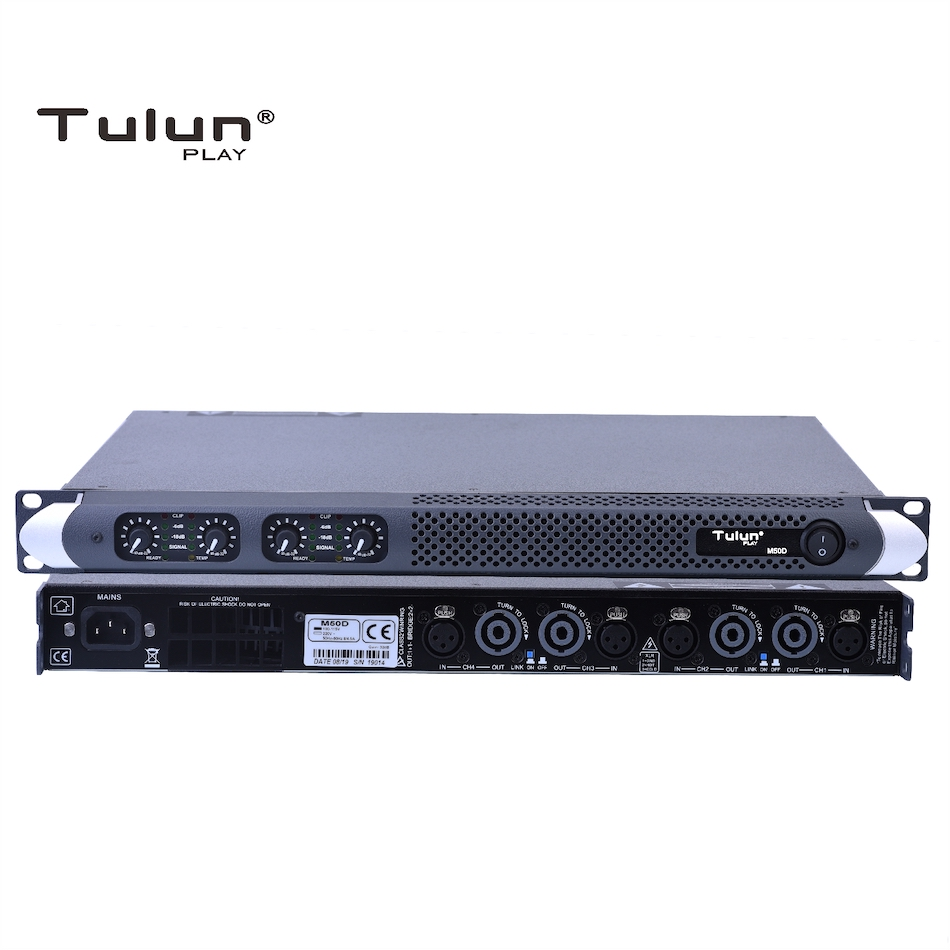 4 channel 750 Watts at 8ohm Class <strong>D</strong> 1U Professional power amplifier DJ Subwoofer poweramp PA Stage Tulun play M50D