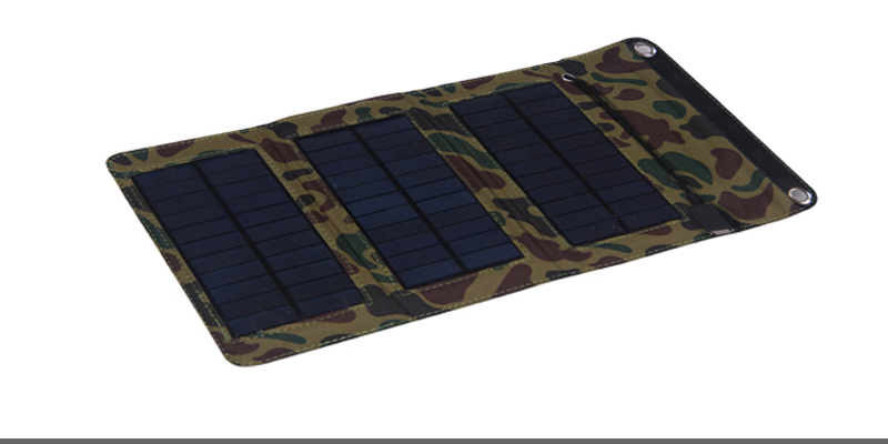 5V solar phone charger, mobile mono cloth folding solar panel for Smartphones, GPS, eReaders, Camera and Other 5V USB-reCharger