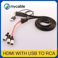 HDMI to 5 RCA RGB Component Cable usb female to rca male cable HDTV Cord Audio AV Video Converter