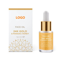 Private Label Best Skin Care 24K Gold Face Oil Serum with Manuka Honey