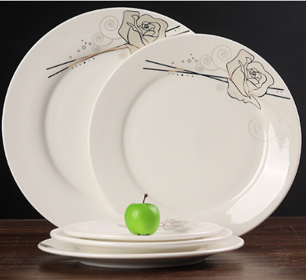 8~10.5 inch ceramic/porcelain dinner <strong>plate</strong> with customized printing