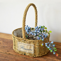 Handmade Decorate Flower Basket With Hanging